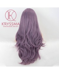 Purple Long Natural Wavy Synthetic Lace Front Wig 22 inches (Processing Time - 5 Days)