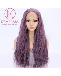 Ash Purple Long Wavy Synthetic Wigs 22 inches