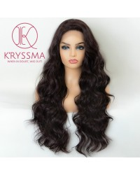 99J Deep Burgundy Lace Front Wigs with Baby Hair Long Wavy Dark Wine Red Synthetic Wig