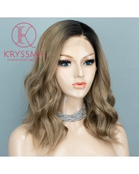 Ash Brown Short Bob Lace Front Wigs