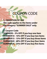 UP TO 25% OFF - 2020 SUMMER SALE COUPON