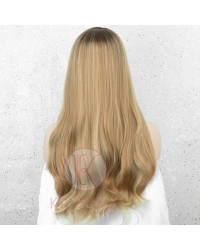 Ombre Blonde Long Wavy Synthetic None-Lace Wig