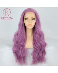 Purple Wavy Long Synthetic Wig 22 inches