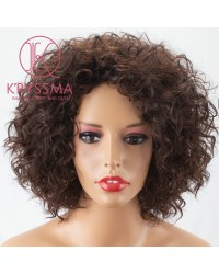 Short Bob Brown None Lace Synthetic Wig for Women 8 inches