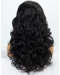 K'ryssma Natural Black Wavy None Lace Wig