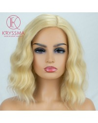 Blonde Short Bob Wig Synthetic None-Lace Wig 12 inches