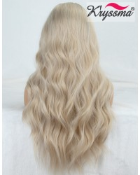 Blonde Long Wavy Lace Front Wig  22 Inches