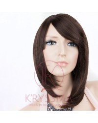 Brown Straight Bob Synthetic Wigs with Bands