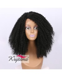 LIMITED STOCK! Black Short Kinky Curly Lace Front Wig for Black Women 16 inches