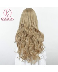 Ash Blonde Long Wavy Lace Front Wigs Glueless Ombre Synthetic Wig Natural Looking Daily Wear