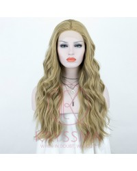 Blonde Wavy Long Lace Front Wig