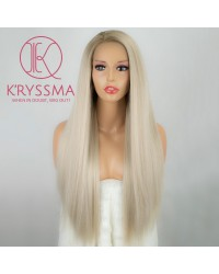 Olivia Recommend: Ombre Blonde Long Natural Straight Synthetic Wigs 24 Inches