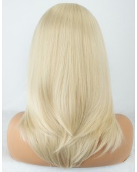 Platinum Blonde Short Bob Shoulder Length Synthetic Wigs