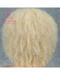 Afro Kinky Curly Blonde Wig Synthetic L Part Wig for Women
