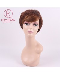 Brown Short Bob Synthetic None-Lace Wig Heat Resistant