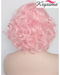 Baby Pink Short Bob Synthetic Lace Front Wigs 12 Inches - Processing Time 5 Days