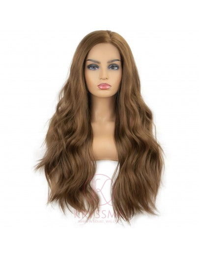 Brown Wavy Lace Front Wigs  22 Inches - Processing Time: 20-30 Days