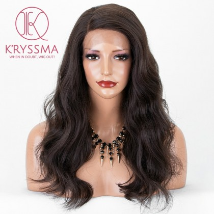 Burgundy 99j Lace Wig with L Part Synthetic Wigs