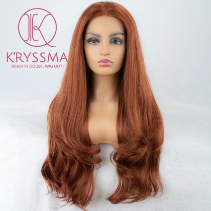 Reddish Blonde (Copper Red) Wavy Lace Front Wigs