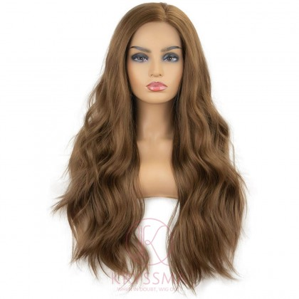 Brown Wavy Lace Front Wigs  22 Inches